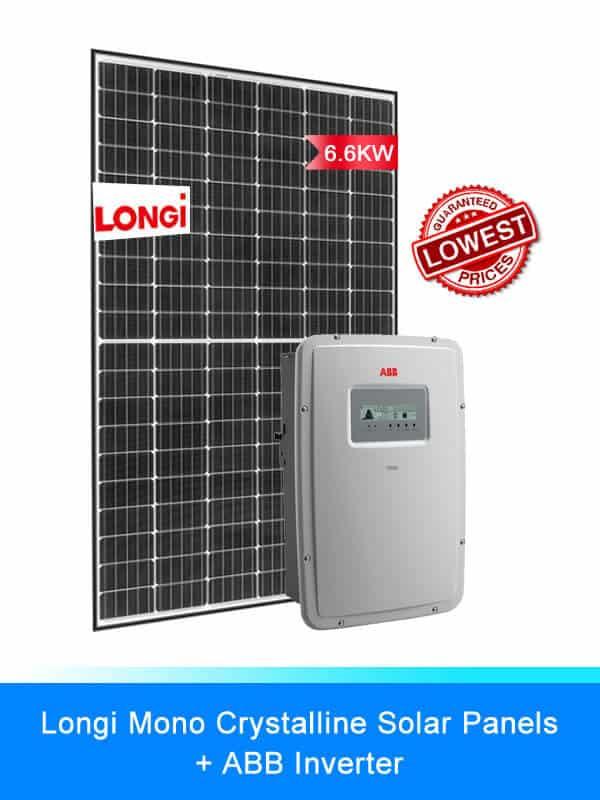 Longi Solar Panel | ABB Solar Inverters | Solar System