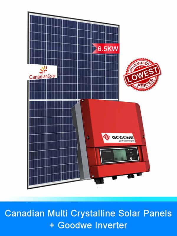 Canadian Solar Panel | GOODWE Solar Inverter | Solar System